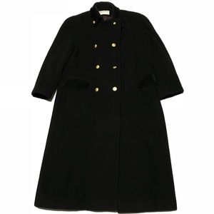 VTG Christian Dior Heavy Wool Coat Velvet Collar